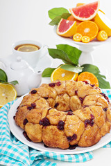 Orange cranberry monkey pull-apart bread