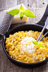 Creamy corn with parmesan