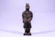 Clay Handmade Statue of an Indian Warrior