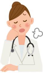 女医 ため息