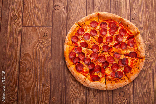 Fototapeta Delicious fresh pizza