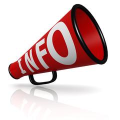 Red info megaphone