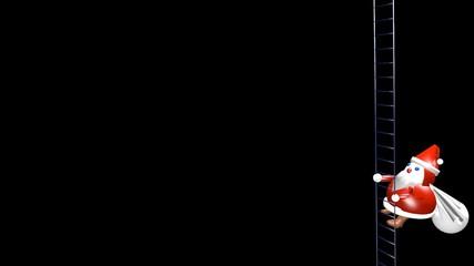 サンタクロース_アルファチャンネル付オーバーレイ用動画素材_4e