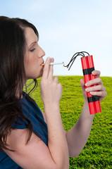 Woman smoker
