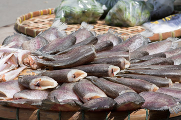 dried fish in the sun