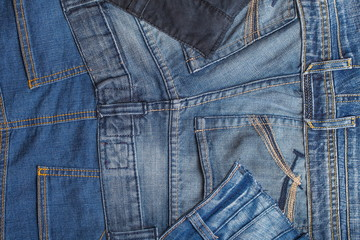 Made of denim jeans Patchwork