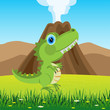 Dinosaur on glade