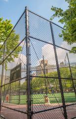 NEW YORK - JUNE 15, 2013: Chelsea Park sport field in Manhattan.
