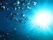 Leinwanddruck Bild - 泡と太陽