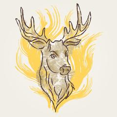 Deer Art vintage