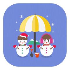 크리스마스_눈사람커플