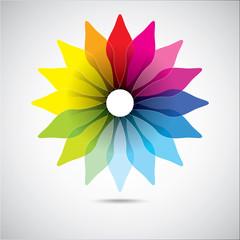 Modern colorful geometrical circles