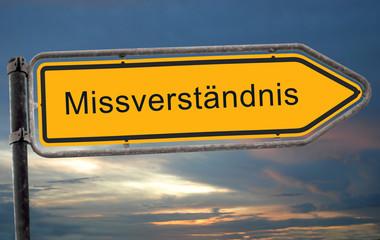 Strassenschild 19 - Missverständnis