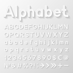 Decorative paper alphabet. Vector illustration