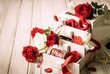 canvas print picture - various  decorations  for Valentine's Day