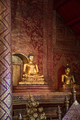 Antique bronze buddha in Chiangmai