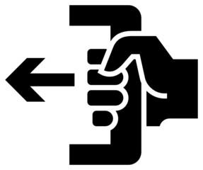 Push to open icon