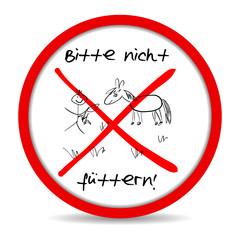 """button """"bitte nicht füttern"""""""