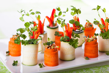 Zucchini and Carrot Roll-Ups