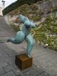 Statue à l'entrée de la galerie Mestrovic, Split, Croatie.