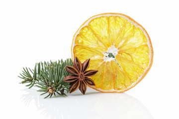 traditional christmas decorations dried orange anise star