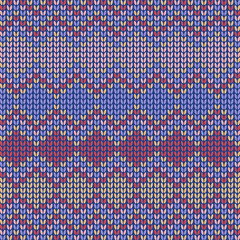 colored Seamless knitted background
