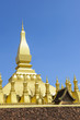 canvas print picture - The golden pagoda Pha That Luang