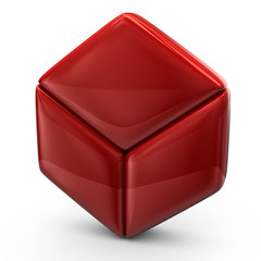 Illustration of red cube