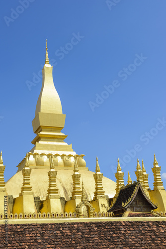 canvas print picture The golden pagoda Pha That Luang