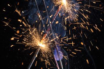 sparklers closeup