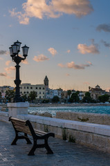 Bari: view of seaside at the evening (Apulia, Italy)