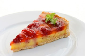 Strawberry cheesecake with vanilla flavour
