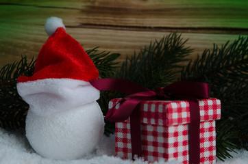 Verpacktes Weihnachtsgeschenk