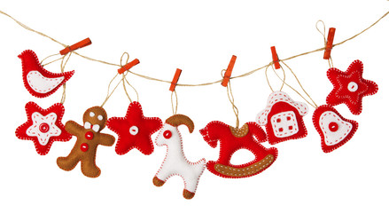 Christmas Hanging Decoration Toy, Isolated White Background