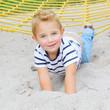Little boy on a playground.