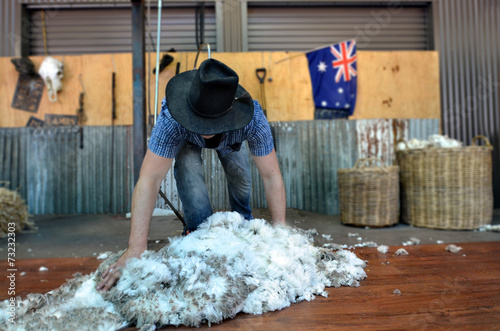 Australian Sheep shearer - 73232303