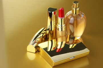Gold cosmetic set