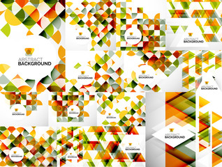 Set of Abstract Geometric Flyer Templates