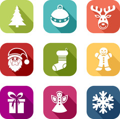 icônes de Noël