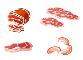 Colored meat icons