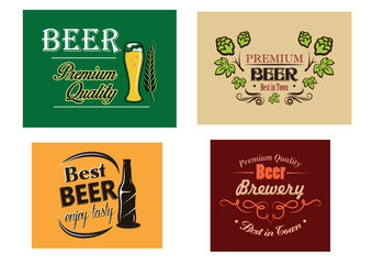 Beer advertising posters