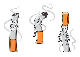 Cute cartoon cigarettes characters