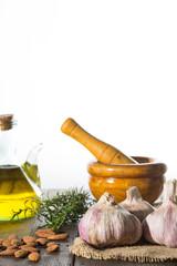 Garlic and mortar