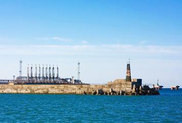 Seaport terminal, top view