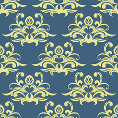 Pretty floral arabesque seamless pattern