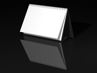 Desk Calendar isolated