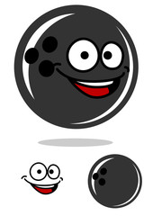 Bowling ball with a happy smile