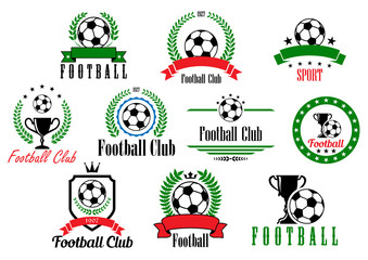 Set of football club badges and emblems