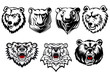 Bear mascots with different expressions