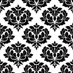 Black and white arabesque seamless pattern